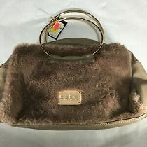 Nwt Be Be Los Angeles Faux Fur Clutch Purse With Strap Photo