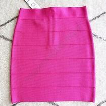 Nwt Bebe 79 Solid Bandage Skirt Bodycon Mini Hot Pink Xsmall Xs 0 2 Rose Violet Photo