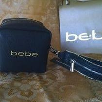 Nwt Bebe Black Square Blk  Wrist Bag Photo