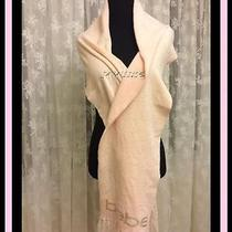 Nwt Bebe Logo Fringed Scarf in Light Pink Color  Brand New Photo