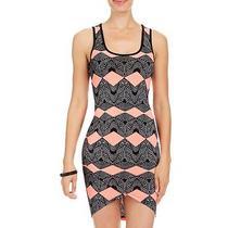 Nwt Bebe Sarong Hi Lo Cutout Patterned Dress Xlarge Xl Photo