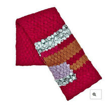 Nwt Bebe Women's Multi Color Chunky Knit Scarf Photo