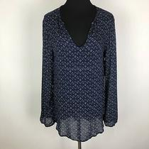 Nwt Bella Dahl Anthropologie S Navy White Top Shirt Blouse Fashion Chic Urban Photo