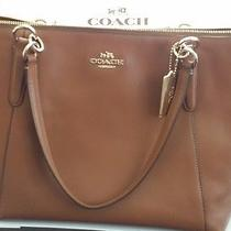 Nwt Best Mothers Day Gift  Saddle Ava Large Pebbled Leather Coach F37216  Photo