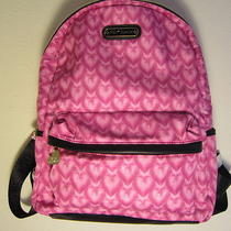 Nwt Betsey Johnson Backpack Heart Quilted Pink Polyester 99 Msrp Black Accent Photo