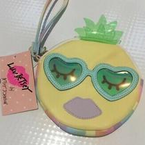 Nwt Betsey Johnson Betsey Lbcoinz5 Lemon Yellow Sunglasses Coin Purse Wristl Photo