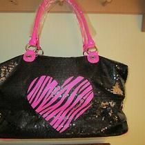 Nwt Betsey Johnson Betseyville Weekender Shoulder Luggage Travel Bag Sequin 138 Photo