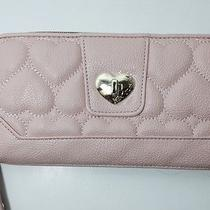 Nwt Betsey Johnson Blush Be Mine Faux Turnlock Zip Around Wallet Photo