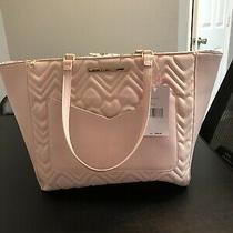 Nwt Betsey Johnson Blush Quilted Tote Bag New With Tag Perfect for Laptop Roomy Photo