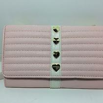 Nwt Betsey Johnson Blush Trapunto Heart Stud Wallet on a String Photo