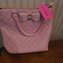 Nwt Betsey Johnson Buns Ns Tote Bag Blush Pink Be My Honey Shoulder Handbag Photo