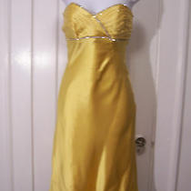 Nwt Betsey Johnson Evening Yellow  Silk Dress  395.00 Photo