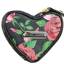 Nwt Betsey Johnson Floral Heart Coin Purse Photo