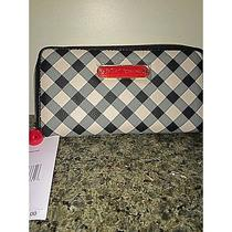 Nwt Betsey Johnson Gingham Zip Around Wallet Photo