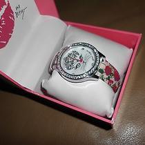 ''nwt'' Betsey Johnson Kitten Designer Wristband Watch    95 Photo