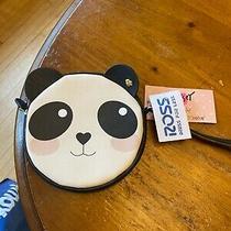 Nwt Betsey Johnson Love Betsy Panda Coin Purse Wristlet Blue Purple Photo
