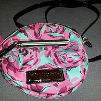Nwt Betsey Johnson Mini Crossbody Spring Rose Aqua and Pink Purse Photo