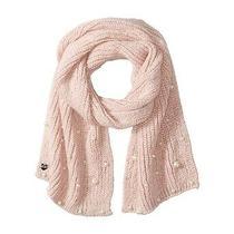 Nwt Betsey Johnson Pearl Jam Blush Pink Pearl Embellished Knit Muffler Scarf Photo
