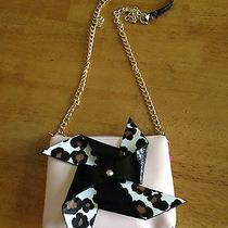 Nwt Betsey Johnson Pinwheel Spinning Crossbody Bj57645h Pink Blush With Leopard Photo