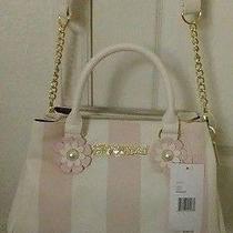 Nwt Betsey Johnson Purse Bag - Blush Pink & Cream Stripes Photo