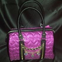 Nwt Betsey Johnson  Satchel High Sequency Fuschia Beautiful Bag 128 Photo