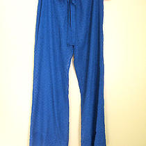 Nwt Betsey Johnson Sexy Sheer Swim Cover Up Blue Polka Dot Lounge Pants M 94 Photo