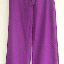 Nwt Betsey Johnson Sexy Sheer Swim Cover Up Purple Polka Dot Lounge Pants S 94 Photo