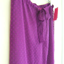 Nwt Betsey Johnson Sexy Sheer Swim Cover Up Purple Polka Dot Lounge Pants M 94 Photo