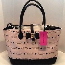 Nwt Betsey Johnson Signature Bag in a Bag Purse Crossbody Tote Blush Pink  Photo