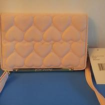 Nwt Betsey Johnson Wallet on a String  Be Mine  Blush Photo