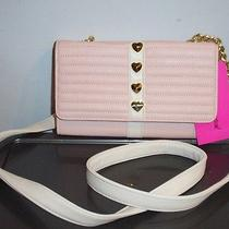 Nwt Betsey Johnson Wallet on a String  Trapunto Heart Stud Blush  Cute Photo