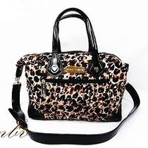 Nwt Betsey Johnson Water Color Cheetah Natural Satchel/shoulder Bag Photo