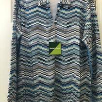 Nwt Bette & Court Geometric Long Sleeve Golf Shirt - Size L  Upf50 Cool Elements Photo
