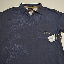Nwt Billabong Amant Blue Artwork Pattern Slim Fit Polo Shirt Xl Extra Large Photo