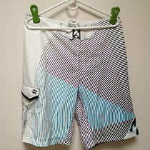 Nwt Billabong Men's Radial Board Short White  34 Photo
