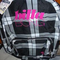 Nwt Billabong Plaid Backpack Book Bag Laptop School Skate Surf  Photo
