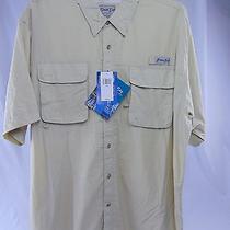 Nwt Bimini Bay Outfitters Men's Sport Shirt Fishing Hunting Button Up Fossil Xxl Photo