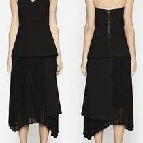 Nwt Black Camilla and Marc Size 10 Strapless Gown Dress  Crepe Midi Occasion Photo