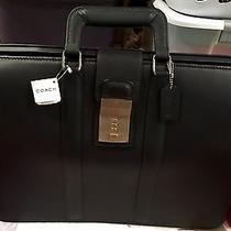 Nwt Black Coach Gladstone Briefcase W/ Original Box Photo