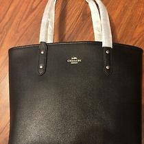 Nwt Black Coach Tote W/ Zipper Closure Photo