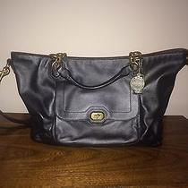 Nwt Black & Gold Coach Satchel / Cross Body Purse - Brand New With Tags Photo