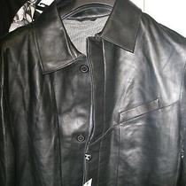 Nwt  Black Leather Lamb Skin Very Soft   Blazer  Coat /jackets-Size 40 Regular Photo