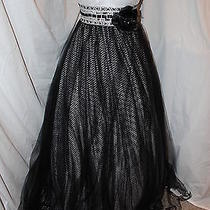 Nwt Black/white Blush Prom 5035 Beaded Ball Gown Prom Formal Evening Dress Sz 6 Photo