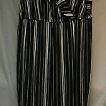 Nwt Black/white Striped Jumpsuit From Express Size L Photo