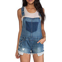 Nwt Blank Nyc Bunch of Fives Short Overalls as Seen on Nina Dobrev Size 26 Photo