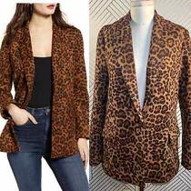 Nwt Blanknyc Leopard Animal Print Faux Suede Blazer Jacket Size S Photo