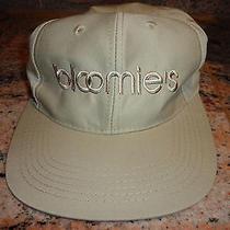 Nwt Bloomingdales Designer Beige Baseball Cap Hat - Bloomie's Ball Cap New Photo