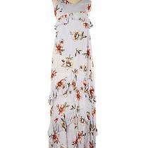 Nwt Blue Blush Women White Casual Dress L Photo