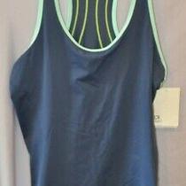 Nwt Blue Colorblock Tank Top Work Out Gap Fit Shirt Top Medium 30 Photo