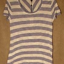 Nwt Blue on White Stripe Coby Top From Bcbg Max Azria Size Small Photo